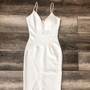 Women White Short Dress With Straps Size Small